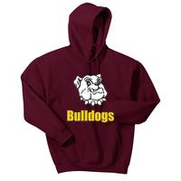Adult Unisex - Bulldogs Pullover Hooded Sweatshirt - Maroon