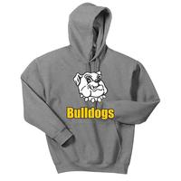 Adult Unisex - Bulldogs Pullover Hooded Sweatshirt - Sport Grey
