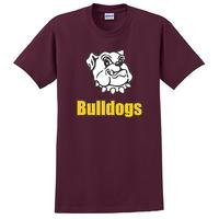 Adult Unisex - Bulldogs T-shirt - Maroon