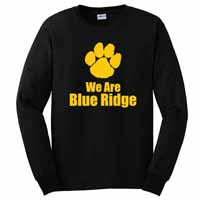 Adult Unisex - Paw Print Long Sleeve T-Shirt - Black