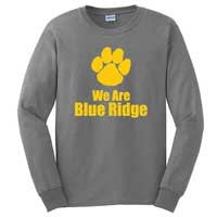 Youth - Paw Print Long Sleeve T-Shirt - Sport Grey