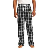 Young Men's Flannel Plaid Pants - Black
