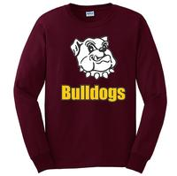 Youth - Bulldogs Long Sleeve T-Shirt - Maroon