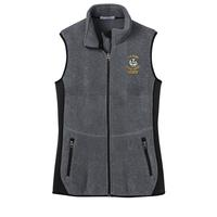 STAFF - Ladies Full-Zip Fleece Vest - Charcoal Heather