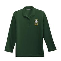 STAFF - Ladies Silk Touch Long Sleeve Polo - Dark Green