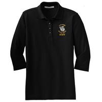 STAFF - Ladies Silk Touch 3/4-Sleeve Polo - Black