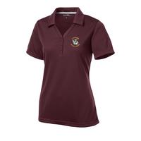 Ladies Micro-Mesh Polo - Maroon