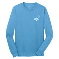 STAFF Unisex - What You Do Matters Long Sleeve T-shirt - Aquatic Blue