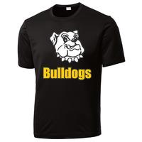 Adult Unisex - Bulldogs Performance T-Shirt - Black