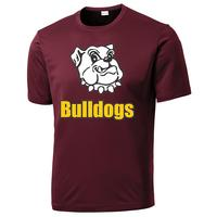 Adult Unisex - Bulldogs Performance T-Shirt - Maroon