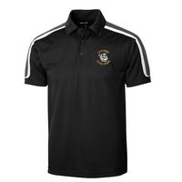 Men's Tricolor Shoulder Micropique Sport-Wick Polo - Black/Grey/White