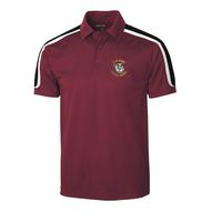 Men's Tricolor Shoulder Micropique Sport-Wick Polo - Maroon